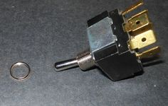 """Toggle Switch 3 Position 250Vac. 10amp  NEW:  This is a toggle switch with a three position, 250vac and 10 amp.  This product measures 1-1/4"""" long and 1"""" wide.  This product is made of plastic and metal."""