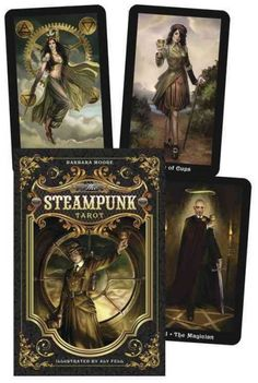 The Steampunk Tarot Deck Cards. My faves. I love the feel of these cards and the art is wonderful!