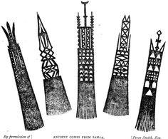 Old Samoa combs  nzetc.victoria.ac.nz