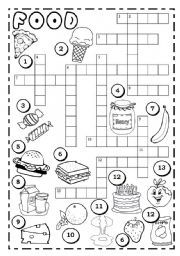 Here You Can Find Worksheets And Activities For Teaching Food Crosswords To Kids Teenagers Or Adults Beginner Intermediate Advanced Levels