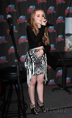 Sabrina Carpenter Celebrates Her Debut Album With Cake And A Trendy Outfit! 2015
