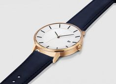 The Minimalist watch has numberless indices and minute markers.