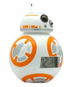 Love this Star Wars BB-8 BulbBotz Light-Up Clock on #zulily! #zulilyfinds