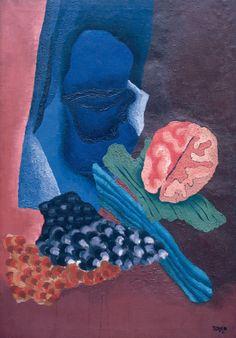 Toyen (Marie Čermínová), Květena spánku, 1931, olej, plátno, v.116 cm, s.81 cm, značeno vpravo dole štětcem: Toyen 31
