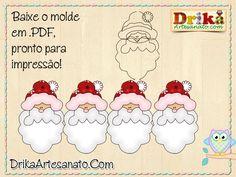 Artesanato de Natal: moldes incrivelmente lindos. Confira!DRIKA ARTESANATO  CADASTRE E RECEBA EMAIL