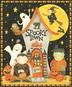 Art by Debbie Mumm Halloween Painting, Halloween Prints, Halloween Pictures, Halloween Art, Holidays Halloween, Halloween Themes, Vintage Halloween, Happy Halloween, Halloween Decorations
