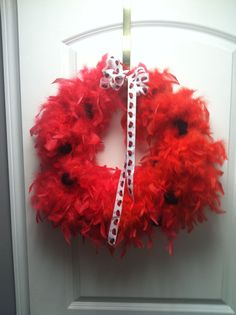 Wreath I made for MaCaylas ladybug party.