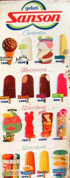 Sanson ice cream 1996