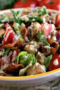 This BLT Panzanella salad recipe combines the great flavors of a traditional BLT sandwich into a fresh and fantastic salad!