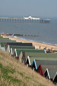 Pier and Beach Huts - Southwold, Suffolk, England Suffolk Coast, Suffolk England, England Uk, Britain Uk, Great Britain, England Ireland, Uk Holidays, Beach Huts, Norfolk
