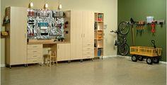 Garage with Storage - Home and Garden Design Ideas