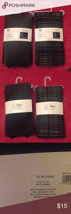 🆕 NWT Gap sheer and patterned tights NWT Gap tights - 1 pair of sheer black and 1 pair of sheer black patterned GAP Accessories Hosiery & Socks