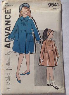 Vintage Advance Child's Coat Pattern Size 4