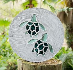 Baby Sea Turtles Stepping Stone Large 18 Diameter Made