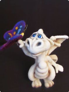Needle Felted Toy - Little Dragon - rusteam.