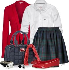 """""""Private School Individuality Contest #1"""" by angkclaxton ❤ liked on Polyvore"""