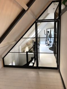 Attic Master Bedroom, Attic Bedroom Designs, Attic Rooms, Attic Spaces, Loft Conversion Stairs, Attic Conversion, Attic Loft, Loft Room, Attic Renovation