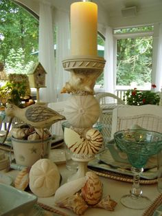 Sally Lee by the Sea Coastal Lifestyle Blog: Beach Tablescape from Between Naps on the Porch