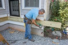 Learn how to properly install a waterproof deck ledger board using flashing and fasteners. Check out our step by step video and detail drawings. (Patio Step The Family Handyman) Deck Building Plans, Deck Plans, Building A Shed, Pergola Plans, Cool Deck, Diy Deck, Backyard Patio, Cabana, Deck Framing