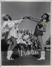 1940 Press Photo Long Beach, Ca. majorettes, Marian Davis, Eunice Pedersen
