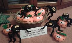Halloween cuties made with scrapstore felt, stuffing and wool by our volunteer and member Kath.       Gloucestershire Resource Centre http://www.grcltd.org/scrapstore/