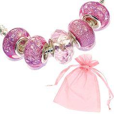 Charm Buddy 5 x Sparkly Pink Glitter Charm Beads Gift Bag Set Fits Pandora Bracelets Ladies Girls Womens Jewellery Charm Buddy http://www.amazon.co.uk/dp/B00Y3TFYL4/ref=cm_sw_r_pi_dp_FkUSwb144GM08