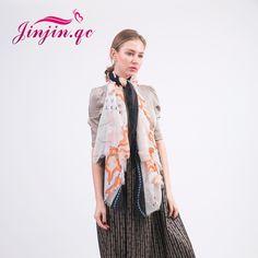 [Jinjin.QC] Fashion Viscose Map Print women scarf Spring scarves & shawls echarpe foulard femme bandana muslim hijab beach towel