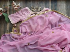 Taffy Pink Gota Patti Saree with Embroidered Blouse Saree Blouse, Sari, Gota Patti Saree, Pink Saree, Work Blouse, Embroidered Blouse, Mehendi, Anarkali, Blouse Designs