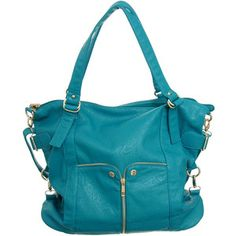 """Purse Boutique: Turquoise Large """"Waverly"""" Cross-body Convert... - Polyvore"""