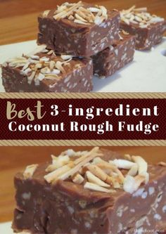Coconut Rough Fudge Recipe 3 Ingredients