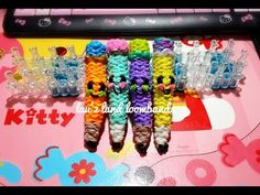 RAINBOW LOOM 3D PENCIL. She gives credit to feelinspiffy for using her techniques.