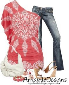 """summer date night"" by amabiledesigns on Polyvore LOVE IT!"
