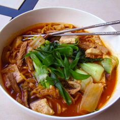 Grandma's Rainy Day Kimchi Noodle Soup (I think I would make these w/yam noodles instead)