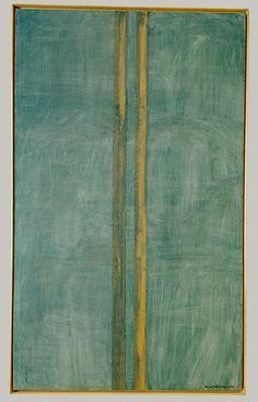 Concord, 1949  Barnett Newman (American, 1905–1970)  Oil and masking tape on canvas. Barnett Newman (29 de enero de 1905 - 4 de julio de 1970) fue un pintor estadounidense al que se relaciona con el expresionismo abstracto y un destacado exponente de la pintura de campos de color (color-field painting). Newman también explotó el impacto que causaba el tamaño de los cuadros, rebasando el campo de visión del espectador.
