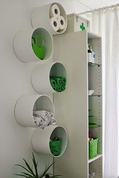 Tu Organizas.: 40 formas de decorar e organizar a casa com canos de PVC                                                                                                                                                                                 Mais