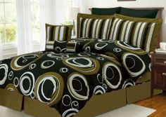Discount Duos - Hotel Collection 8pc Luxury Bed in a Bag Bedding Comforter Set - Torino Green , $119.99 (http://www.discountduos.com/hotel-collection-8pc-luxury-bed-in-a-bag-bedding-comforter-set-torino-green/)