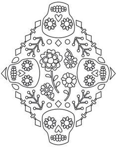 Folklorico - Calavera Diamond design (UTH8394) from UrbanThreads.com