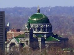Cathedral Basilica of Saint Louis, in Saint Louis, Missouri, USA from the Compton Hill Water Tower