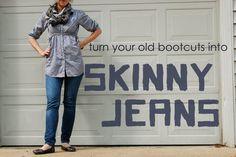 homemade ginger: Repurposing Day 27: Make Your Own Skinny Jeans