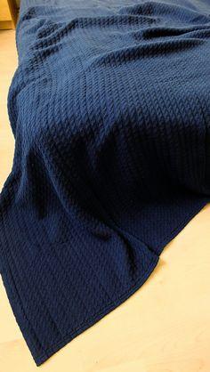 Soft cotton blanket throw blanket plaid bedspread by myBlueMeadow