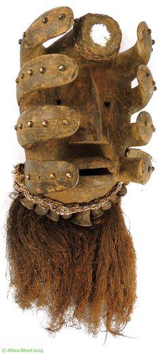 Bete Nyabwa Spider Mask Hiding Face Liberia Africa - Dan, Bassa, Kran, Wee - African Masks