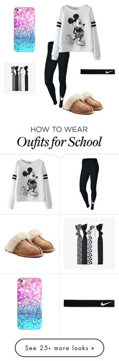 """No School!!☺️"" by taylorswift-411 on Polyvore featuring NIKE, UGG Australia and Casetify"