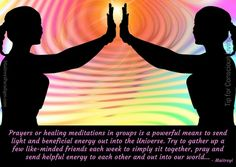Tip for Conscious Living: prayer gatherings can provide immense support