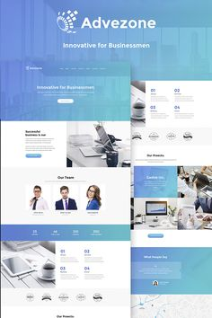 Advezone - Financial Advisor WordPress Theme Big Screenshot