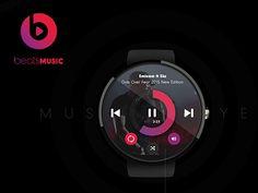 Beats Music Watch Player Concept by Selahattin Taşkıran