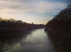 Sunset in Tevere