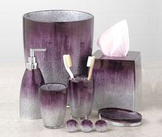 Purple Bathroom Accessories Uk purple swirl bathroom accessories | bathroom accessories, purple