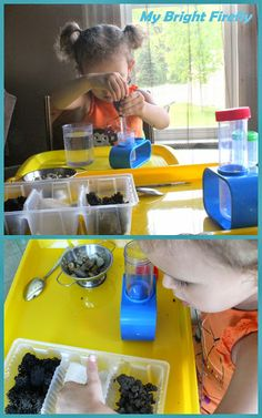 Invitation to Explore Land, Air, and Water. Preschool Sensory Activities. Rocks Playing and Exploration.