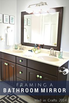 How to Frame a Bathroom Mirror: A simple DIY that will transform your bathroom! - Mad in Crafts