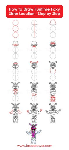 Funtime Foxy is your favourite Five Nights at Freddy's: Sister Location Character? Learn how to draw this character step by step!